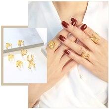 Шикарные оригинальные кольца знаки для женщин регулируемый размер
