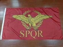 90x150 см SPQR Римская империя Сенат и Народный Римский флаг