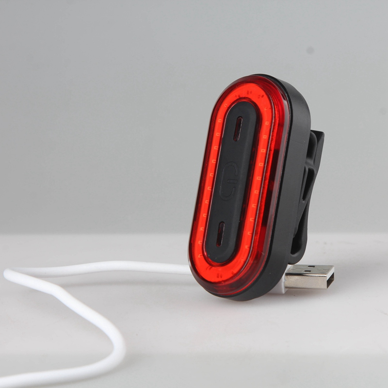 USB Rechargeable Bicycle Rear Light Cycling LED Tail Light Back Lamp Waterproof Bike Warning Sign Flash Light Bicycle Accessory
