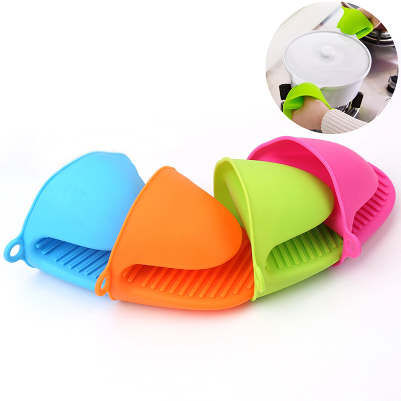 1pcs Anti Scalding Gloves Silicone Green Red Yellow Blue Purple Orange Pink Household Kitchen Tools Anti Scalding Gloves in Oven Mitts Oven Sleeves from Home Garden