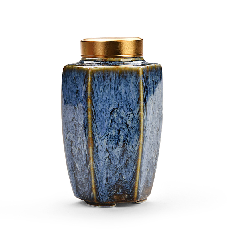 Commemorate Prismatic Urns Funeral Urns for Human Ashes Pet Cat Dog Urns Ceramic Urn Offin Box Funeral Ashes Urn Adult
