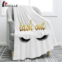Miracille Smile Eye ресницы мягкие фланелевые красивые глаза диван комфорт плед гостиная Спальня украшение одеяло
