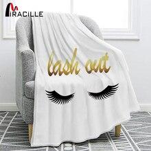 Mirille, pestañas de ojos sonrientes, Franela suave, hermosos ojos, sofá, mantas cómodas, manta decorativa para sala de estar, dormitorio