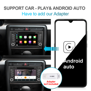 Image 5 - Isudar PX6 2 Din Android 10 Car Multimedia Player GPS DVD For Audi/A4/S4 2002 2008 Automotivo Radio Hexa Cores RAM 4GB ROM 64GB