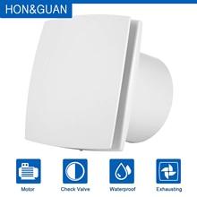 Hon& Guan 6 ''150 мм домашний вентиляционный вентилятор для ванной комнаты гаража вытяжной вентилятор настенное крепление, сильный выхлоп(Ультра тихий) HGA-150A
