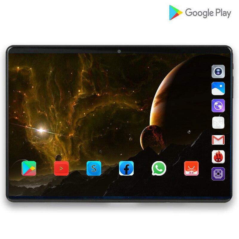 2020 супер планшет 128G Global Bluetooth Wifi Android 9,0 10 дюймов планшет Восьмиядерный 6 ГБ ОЗУ 128 Гб ПЗУ 2.5D экран планшеты фаблет