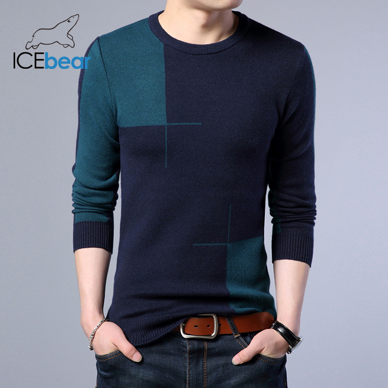 ICEbear 2019 High Quality Men's Sweater Stylish Men's Pullover Brand Male Clothing  1717