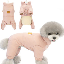 Costume Overalls Chihuahua Coat Jumpsuit Romper Puppy Winter Warm Windproof for 4-Legs