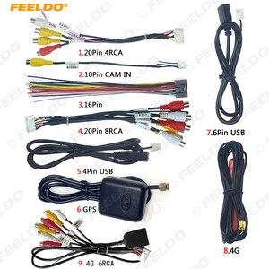 Автомобильный головное устройство FEELDO, комплект проводов стерео, совместимый с XY AUTO Android интерфейс решения RCA USB кабель аудио и видео