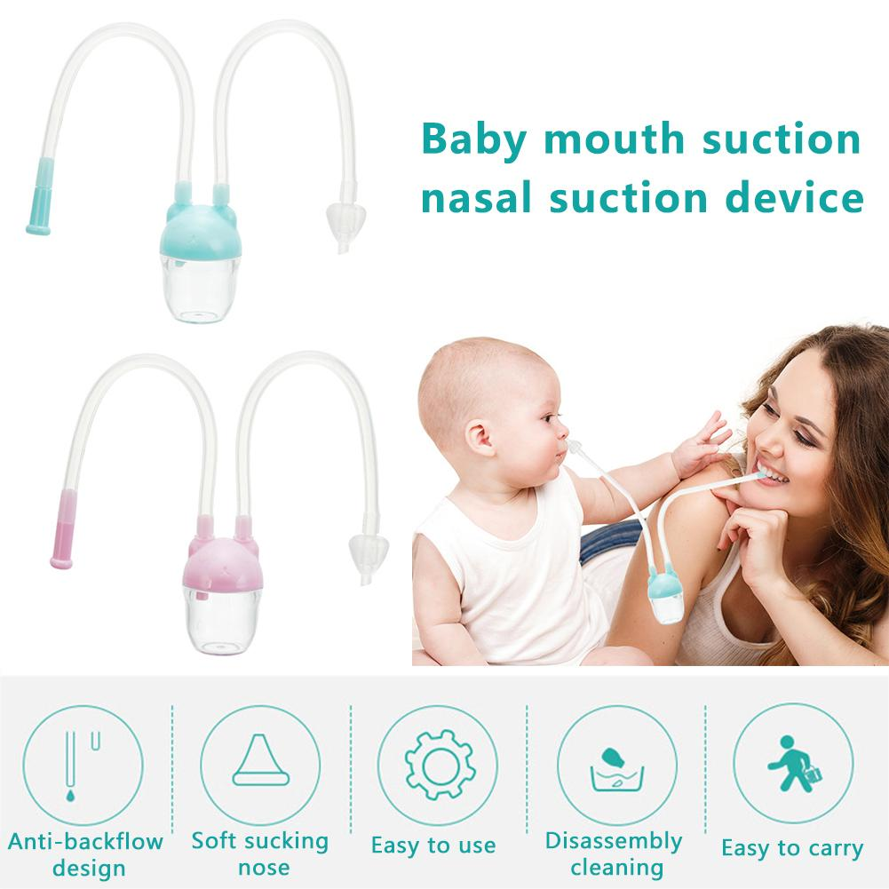 Baby Nasal Aspirator Nasal Suction Device Mouth Suction Device Nose Cleaner Preventing Backflow Aspirator Child Care