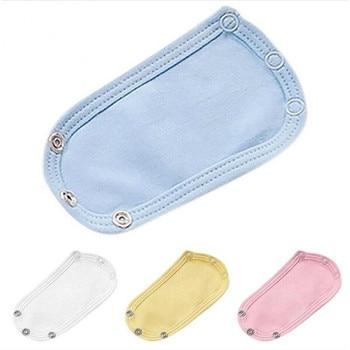 4Pcs/Set Baby Bodysuit Jumpsuit Diaper Lengthen Extender Extension Cotton Solid Soft Jumpsuit Extender Diaper Baby Changing Pad