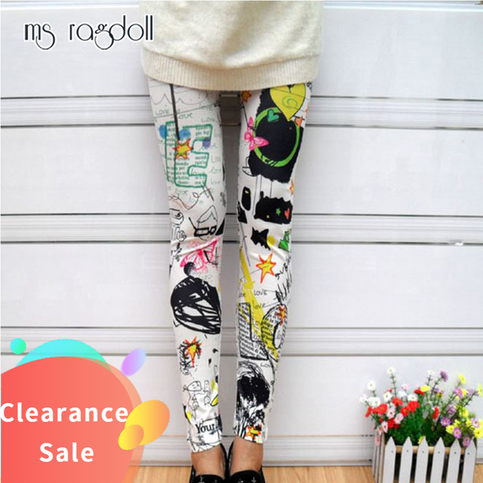 Print Fitness High Waist Elastic Push Up   Leggings   Clothes Sexy Trousers Women Plus Size Leggins Mujer Skinny Pants