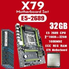 Kllisre X79 マザーボード Xeon で設定 E5 2689 2 × 16 ギガバイト = 32 ギガバイト 1600MHz DDR3 16 ギガバイト ECC REG メモリ ATX USB3.0 SATA3 PCI E NVME M.2 SSD