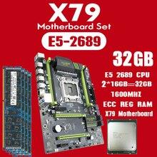 Kllisre x79 마더 보드 세트 xeon e5 2689 2x16 gb = 32 gb 1600 mhz ddr3 16 gb ecc reg 메모리 atx usb3.0 sata3 pci e nvme m.2 ssd