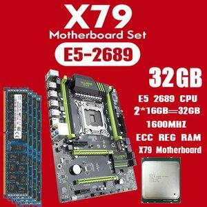 Image 1 - Płyta główna Kllisre X79 z Xeon E5 2689 2x16GB = 32GB 1600MHz pamięć DDR3 16GB ECC REG ATX USB3.0 SATA3 PCI E NVME M.2 SSD