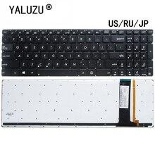 الولايات المتحدة/RU/JP لوحة المفاتيح لابتوب ASUS N56 N56V U500VZ N76 R500V R505 N550 N750 Q550 R501VZ R514JR R701VB مع الخلفية