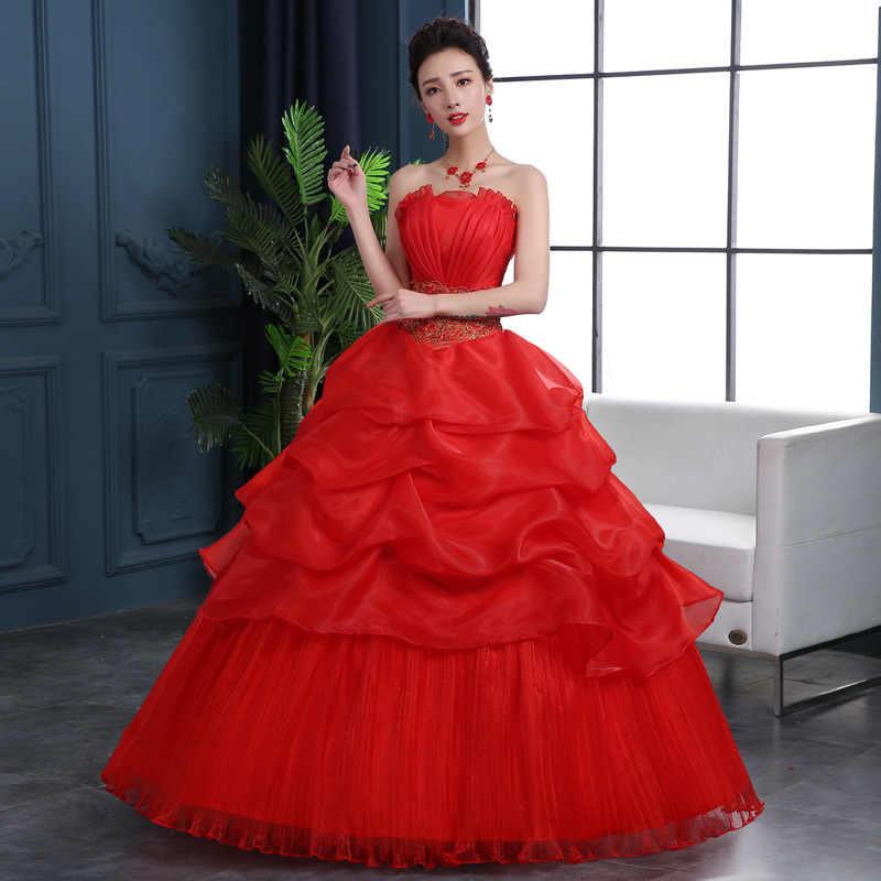 Abito da sposa 2020 Plus Size Abiti Da Sposa Senza Spalline Abito Da Sposa Robe Mariage Africain vestido de noiva WED90567