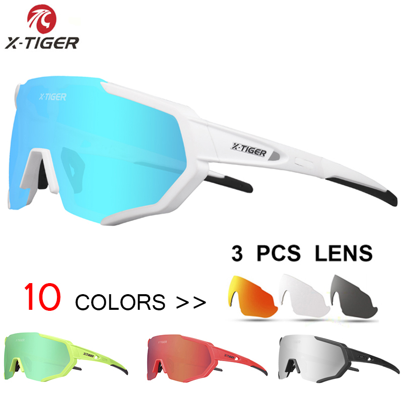 X-TIGER Polariserede cykelbriller UV400 Cykling Sport Solbriller Mountainbike Goggles Racing Road MTB Cykelbrille til mand