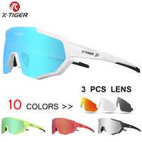 X-tigre marca racing bike mtb de la bicicleta de montaña polarizadas ciclismo gafas de sol gafas ciclismo gafas 2017 new