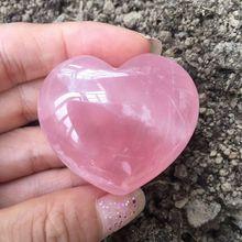 2019 hot 1pcs 40-45MM 100% natural pink rose quartz crystal heart healing Free shipping