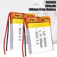 3.7V Lipo 503035 células 500mah Lithium Polymer Bateria Recarregável Para MP3 MP4 GPS fone de ouvido bluetooth DVD CONDUZIU a Lâmpada E-book
