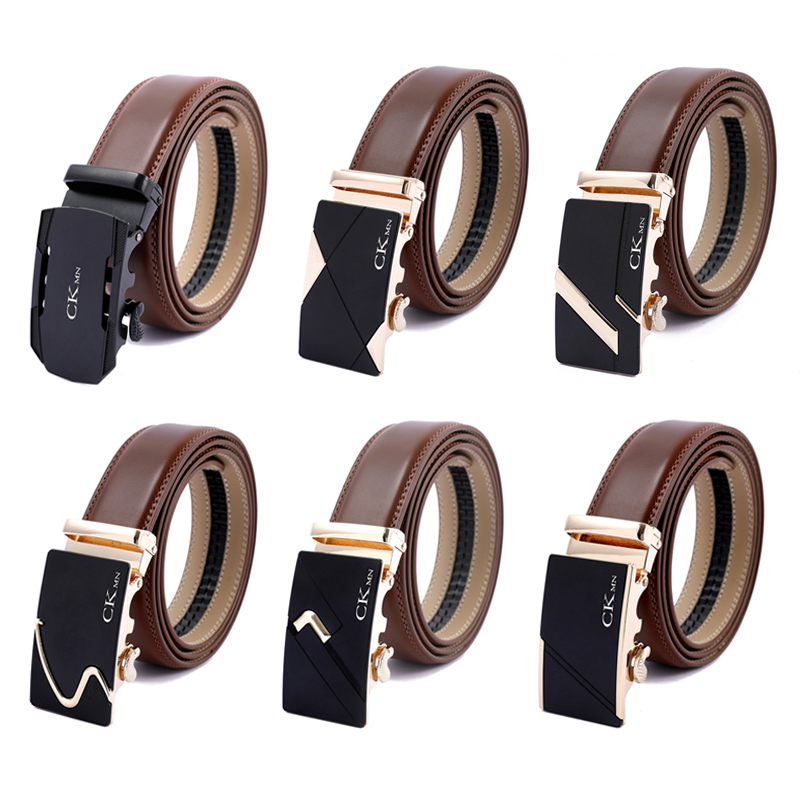 100%  21 Style Top Quality  Automatic Buckle Cow Man Belts Genuine Leather Belt Luxury Leather Belts