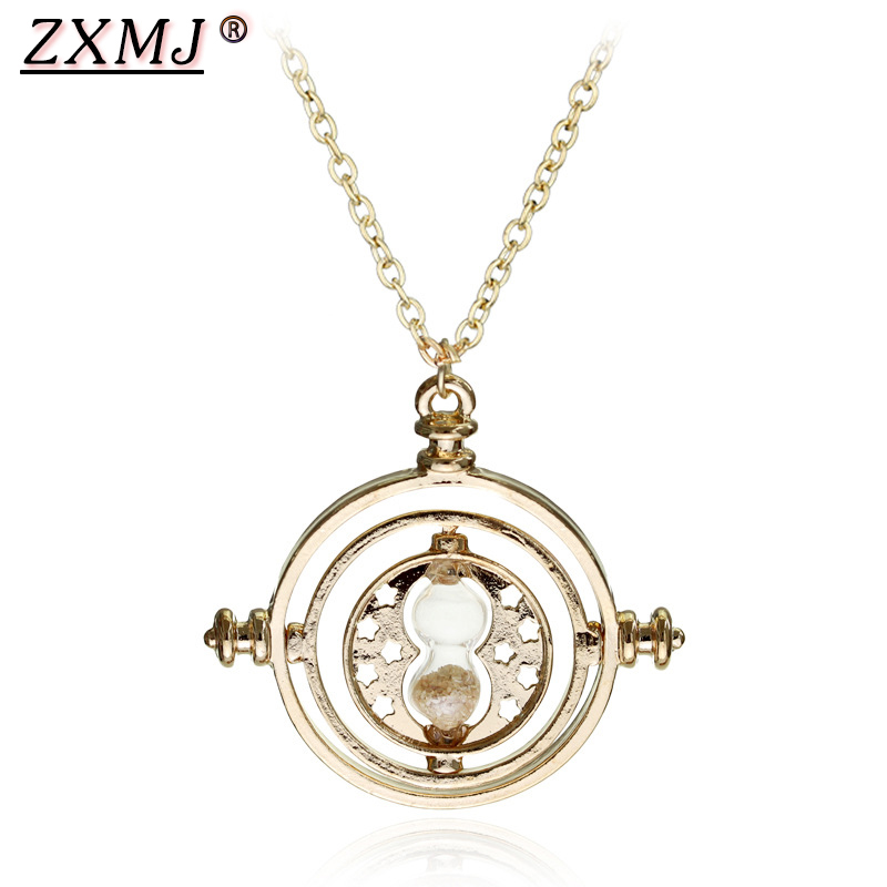 ZXMJ Harried Time timer hourglass necklace pendant Potters astronomical Time Converter Magic School necklaces Movie for Fans New