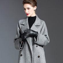 Женское шерстяное пальто толстое свободное двубортное кашемировое