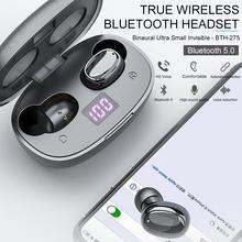 Wireless Headset Bluetooth Powerful TWS Binaural Earphone with Digital Touch Dis