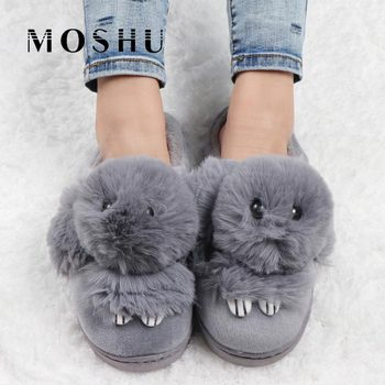 Fur Slides Winter Women Fluffy Slippers Ladies Home Cute House Indoor Shoes Floor Warm Plush Pantoufle Femme - discount item  40% OFF Women's Shoes