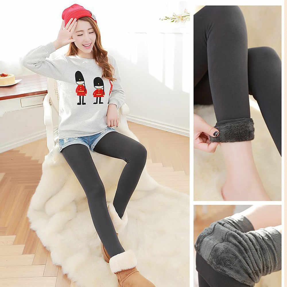 SAGACE kadın pantolon kış kalın sıcak polar astarlı termal sıkı pantolon koşu sıkı koşu spor pantolon #45