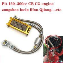 150cc 250cc Cb Cg Motor Zongshen Lifan Zhujiang Qjiang CG125 CG150 CG200 CG250 Motorfiets Radiator Koelsysteem Cb250