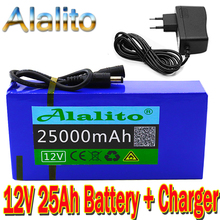 Battery-Pack Lithium-Ion Portable Super-Rechargeable DC 25ah 12v with Us-Eu-Plug High-Quality