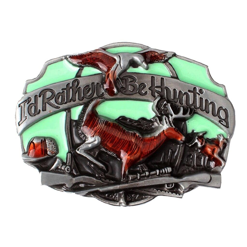 Vintage Eagle Deer Cowboy Western Rodeo Zinc Alloy Belt Buckle Men's Gifts Belt Buckle Suitable For 3.6-3.9cm Wide Belt