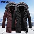 Зимние куртки для мужчин, меховые теплые толстые хлопковые мульти-карманные парки с капюшоном, мужские повседневные Модные флисовые теплые...