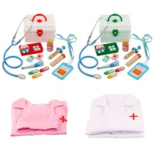 Pretend Doctor Play Wooden Toys for Children Role Playing Doctor Nurse Game