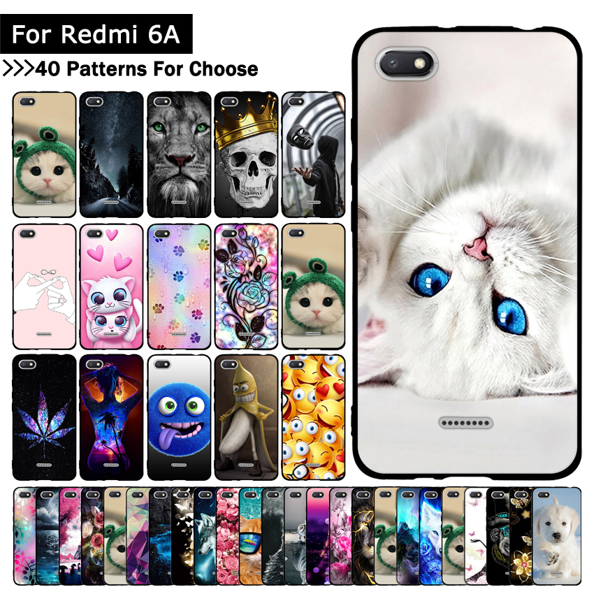 TPU Silicone Phone Case For Xiaomi Redmi 6A 6 A Cases Back Cover For Xiaomi Redmi6A Covers Phone Shells Fundas Protective Cases