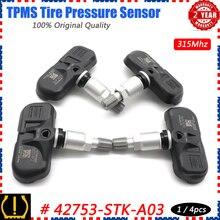 Xuân Áp Suất Lốp TPMS Giám Sát Hệ Thống 42753 STK A04 Cho Quả Lắc Acura MDX TSA RDX Honda Phi Công 2007 2015 PMV 108G 315Mhz 3.5L