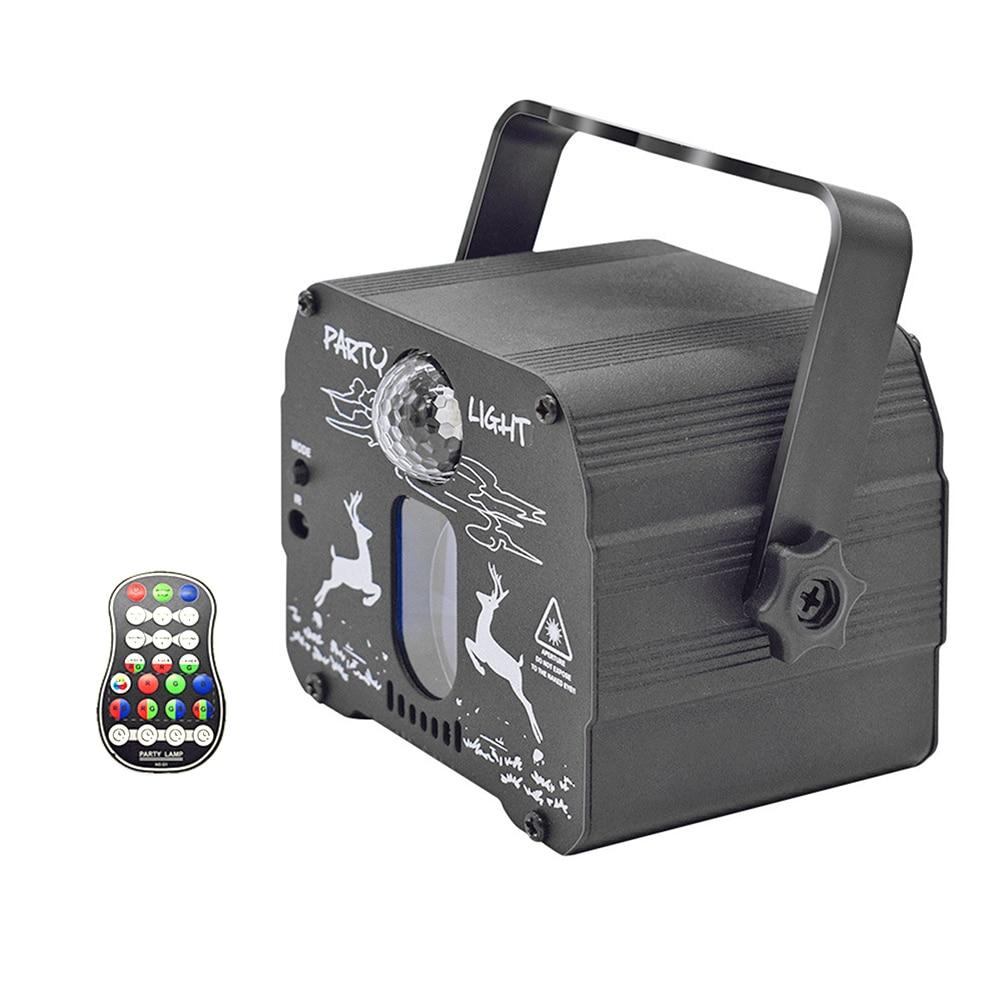 Usb elk mini lâmpada laser 60 padrões