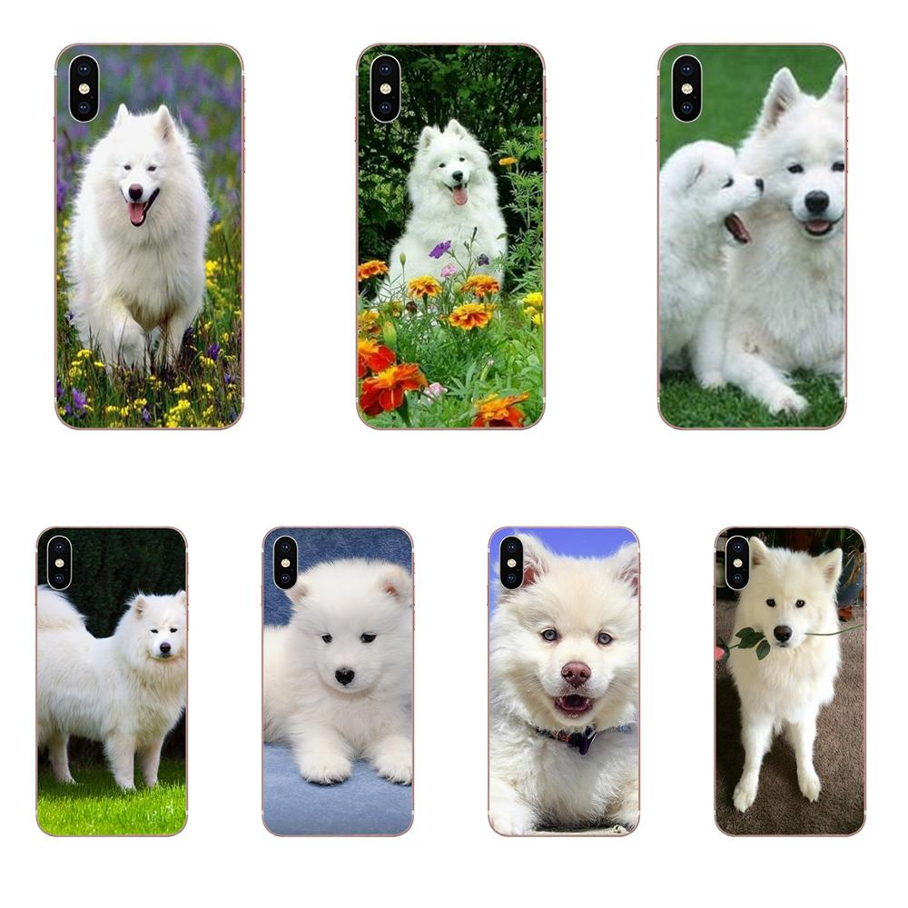 For <font><b>Samsung</b></font> Galaxy J8 <font><b>J7</b></font> J6 J5 J4 J3 J2 prime pro core 2018 2017 2016 2015 Soft TPU Print <font><b>Case</b></font> Cute White Samoyed Puppy <font><b>Dog</b></font> Pets image