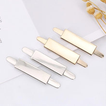 20 Pieces 33*10 MM Geometry Alloy Strip Blank Trademark Clothing Luggage Hardware Metal Laser Trademark Metal Labels Tags