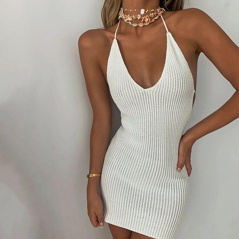 Mini robe à dos nu Sexy pour femme