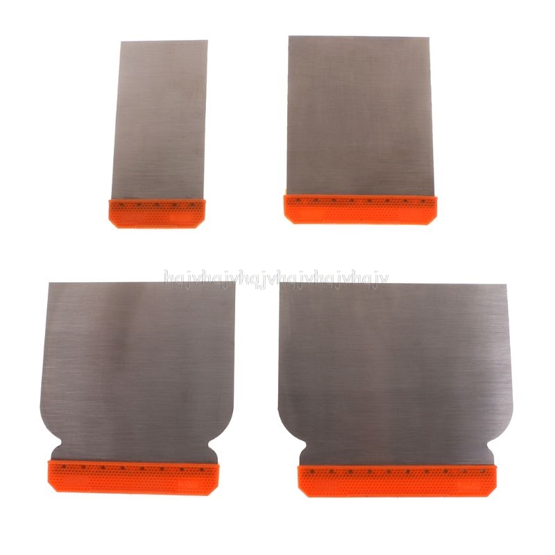 4pcs Carbon Steel Putty Knives Kit Durable Scraper Putty Cleaning Filling Tool N22 19 Dropship