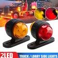 2 шт./лот Красный Янтарный угловой габаритный фонарь, светодиодный индикатор для грузовика, прицепа, фургона, автобуса, 12 В, оптовая продажа
