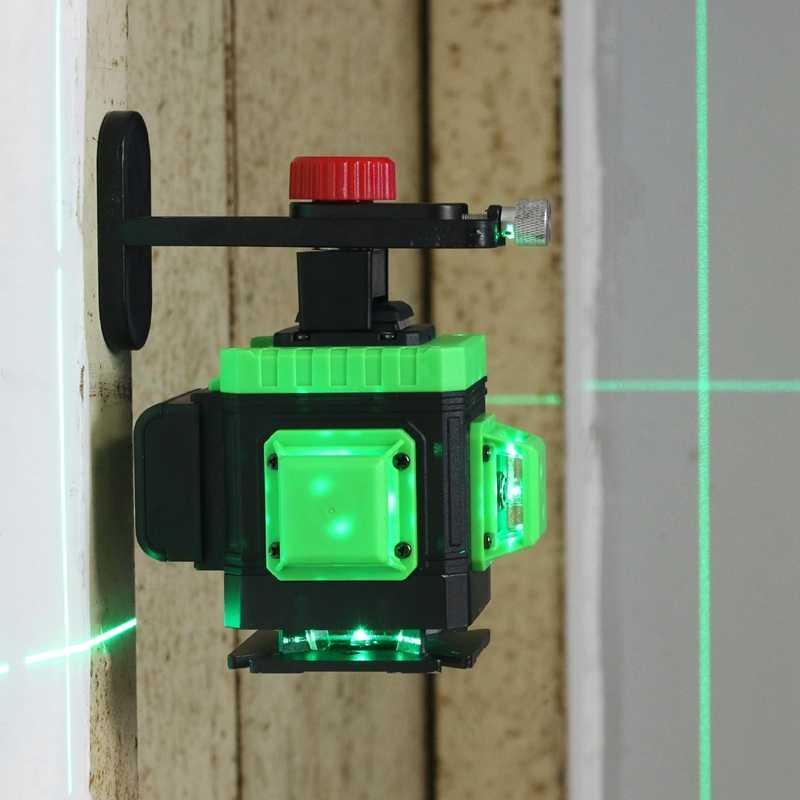 KaiTian lazer seviyesi 12 satır 3D kendini tesviye 360 yatay ve dikey çapraz mıknatıs braketi yeşil lazer işın hattı lazer seviyesi
