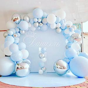 Macaron Blue White Balloons Garland Arch Kit Wedding Birthday Ballon Birthday Party Decor Kids Baby Shower Boy Girl Baloon(China)