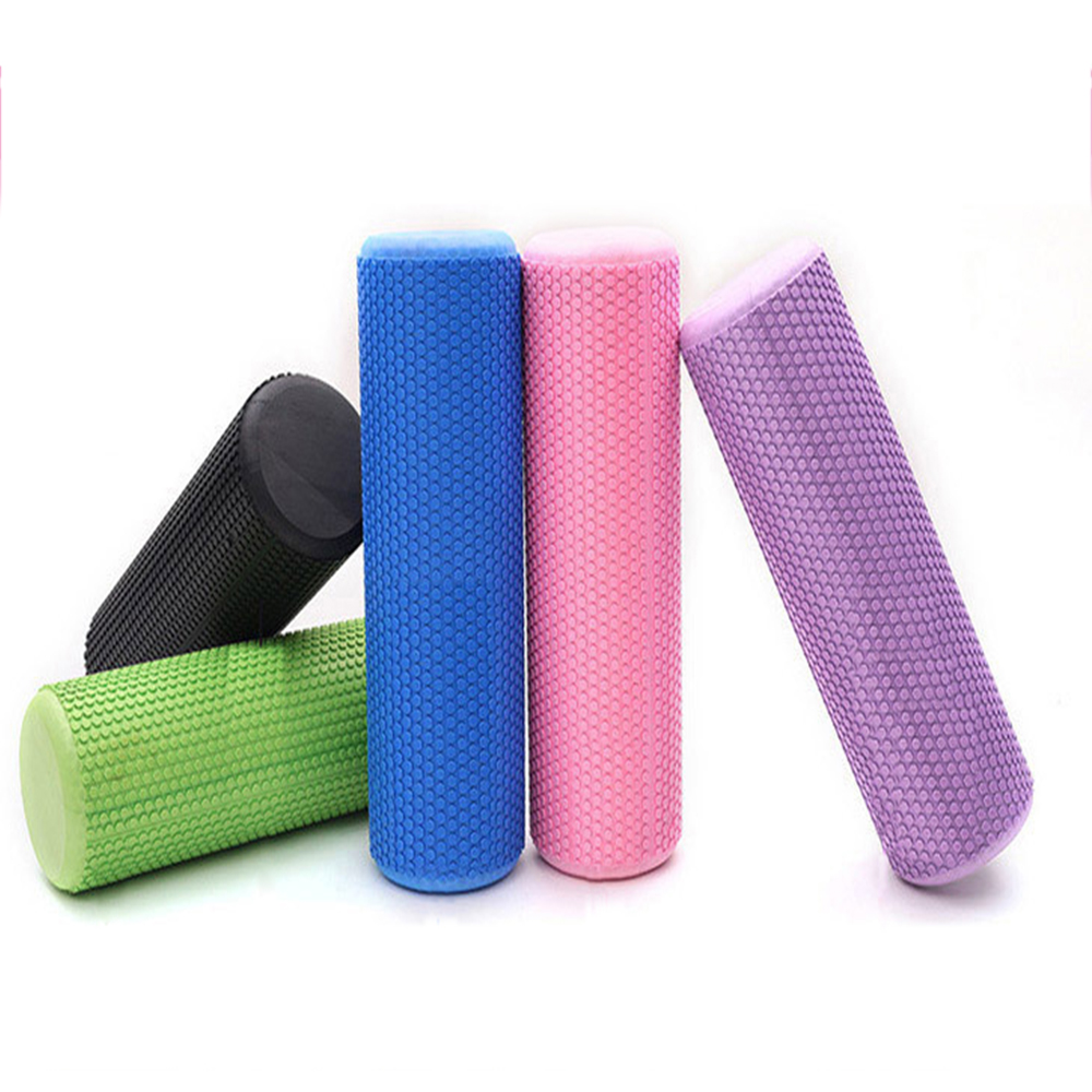 30/45/60CM Fitness Pilates Yoga Foam Roller Blocks EVA Yoga Column For Neck Back Arm Waist Hip Leg Muscle Massage Drop Shipping
