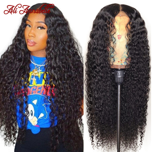 Кудрявые человеческие волосы спереди, малайзийские вьющиеся человеческие волосы, парики Али Annabelle предварительно отобранные с волосами ре...