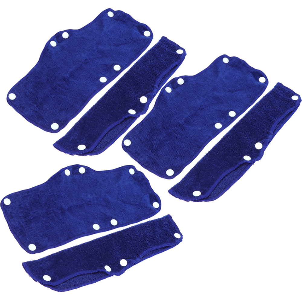 6PCS Safty Hat Sweatband Hard Hat Sweat Strap Replacement Snap-on Sweatband Safety Hat Accessories For Staff Workers (Dark Blue)