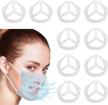 Reusable Mask Adults Plastic Face Mask Holder Bracket Increases Breathing Space 10pcs Can Customize The Facial Maske Wholesale image
